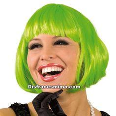 Tu mejor peluca verde cabaret con flequillo pr 8589400 1671d192922