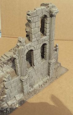 Ancient ruin - Osgiliath - Frostgrave - Fantasy Wargames Scenery - Terrain in…