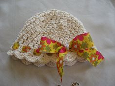 Girl's ivory hat from butterflykissesgifts.com