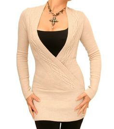Beige cable knit sweater from amazon
