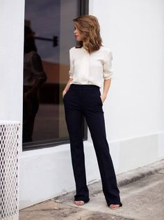 The Style Bungalow Black And White Working Girl Fall Inspo # #Fall Trends…