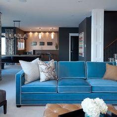 turquoise velvet with white piping