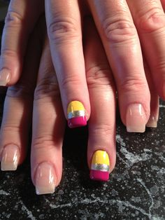 Pencil erasers for back to school nails!!