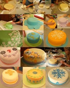 cake decorating ideas for beginners | Introduction to Celebration Cakes – Students work