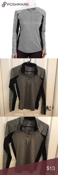 🏃♀️⛸🧘♀️Danskin semi-fitted active wear. Long sleeve, Zipper in front. Comfy, Pre-loved. Charcoal gray. Excellent Condition. Danskin Now Jackets & Coats