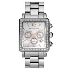 Michael Kors Quartz Mother of Pearl Dial Silver Band - Women's Watch MK5350-- 28% DISCOUNT for a limited time!--->  http://amzn.to/13F61oe