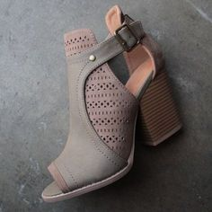 169c02bcec69 sweet talk perforated peep toe bootie (more colors) - shophearts - 1 Bootie  Boots