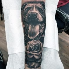 Dog Tattoo Forearm Sleeve Ideas For Males