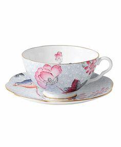 Wedgwood Dinnerware, Blue Cuckoo Teacup and Saucer