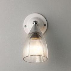 Original BTC Mann Prismatic Glass Wall Light