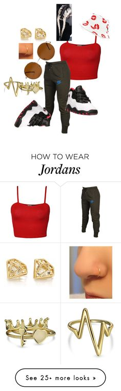 """""""Red & Black day"""" by babygirlaliciaaa on Polyvore featuring WearAll, NIKE, Forever 21, Bling Jewelry, HUF, women's clothing, women's fashion, women, female and woman"""