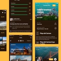 30 Mobile Screens for Travel Apps