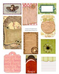 Sweetly Scrapped: Freebie Printable Tag Collage