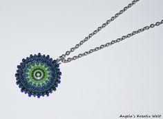 """Halskette """"Grün - Blau"""" von Angela`s Kreativ Welt auf DaWanda.com"""