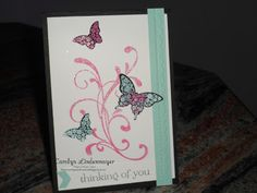 Carolyn's Card Creations: Thinking of You Butterflies