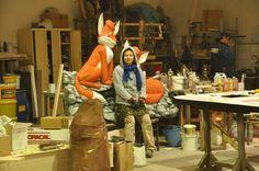 The fox Vuk and me:)