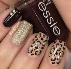 Image via Soft pink and glitter leopard print nail art inspired by the lovely. Image via Leopard nails by vintagemaddness. Image via Leopard nails image Image via Leopard Leopard Nail Art, Leopard Print Nails, Leopard Prints, Animal Prints, Pink Cheetah Nails, Fancy Nails, Trendy Nails, Cute Nails, Diy Nails