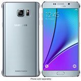 Samsung - Hard Shell Case for Samsung Galaxy Note 5 Cell Phones - Clear/Silver