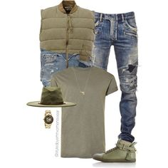Rags to Riches by efiaeemnxo on Polyvore featuring Topman, Balmain, Greg Lauren, BUSCEMI, Kenneth Cole, Brixton, Joolz by Martha Calvo, men's fashion, menswear and mens