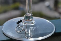 """Hooked on Wine collection """"Treble Clef"""" music/musical themed wine glass charms. $15.00, via Etsy.   Perfect Christmas gift for music teachers! www.facebook.com/love.lizzie.lou"""