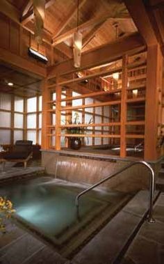 "On a cliff overlooking Snoqualmie Falls, 'Salish Lodge and Spa' is a Northwest oasis where spa packages, like the ""The Roaring Falls,"" will pamper you from head to toe.  #seattle #relax #spa #where"