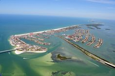 The island of Clearwater Beach.
