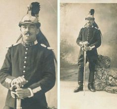 French Napoleonic Dragoon (Second Empire Cuirassier), 19th century French carte de visite...and smoking in his pic as well!!