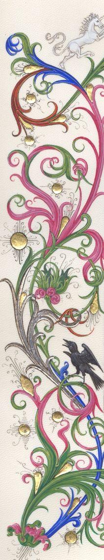 Benoit Billion - detail of heraldic page Cornielje