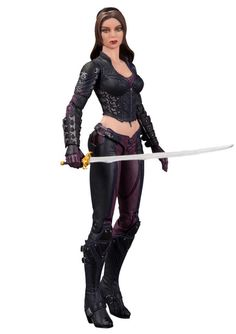 NOT REALLY SURE THEY GOT THE FACE RIGHT ON THIS FIGURE, BUT IT SURE IS PRETTY!! Series 4 Talia Al Ghul Action Figure