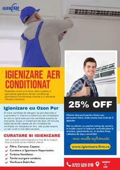 Dacă ați observat o creștere a prafului și alergenilor în casa sau la birou, contactati astazi serviciile noastre de igienizare si permiteti-ne sa facem o curatare minutioasa a aparatelor de aer conditionat.  Familia sau echipa ta merită sa respire aer curat. Ne puteți suna direct la (0723) 529-818.