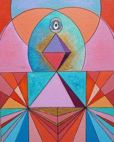 """arte que sana ,sacredgeometry, octaedro ,pirámide  """"energía"""" por Lorena Carreño"""
