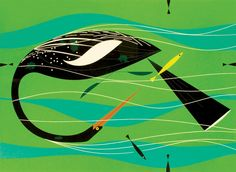 catching fish, by Charley Harper. -   Counting the Wings
