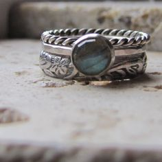 Stacking Rings Engagement Ring Sterling Silver and by tinahdee, $130.00