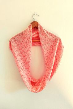 White Scarves, Pink Scarves, Winter Accessories, Handmade Accessories, Top Gifts, Gifts For Mom, Orange Scarf, Teenage Girl Gifts, Loop Scarf