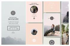 Wedding Invitation by Isbela  on @creativemarket