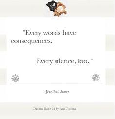 Dream Door 24 by Ana Rosina: Inspiration  #words #silence