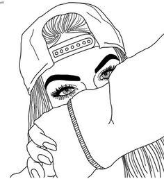 grafika girl, drawing, and outline