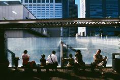 Harry Gruyaert - Tokyo. 2004.  Streetscene near Shinjuku Station.