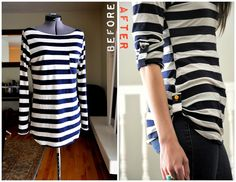 Shorten a top without cutting or hemming
