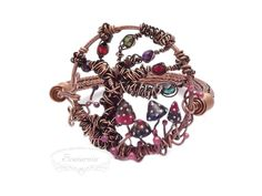 Wire wrapped bracelet with viking knit