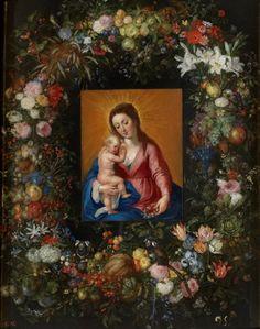 Guirnalda con la Virgen y el Niño - Colección - Museo Nacional del Prado