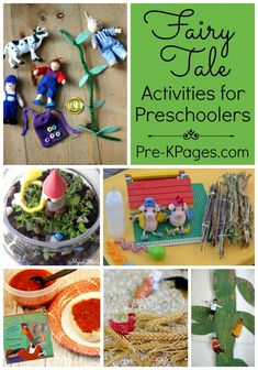 A Collection of Fairy Tale Activities perfect for your preschool or kindergarten kids! Hands-on activities to make learning fun at home or at school. - Pre-K Pages Fairy Tale Crafts, Fairy Tale Theme, Fairy Tale Activities, Fairy Tales Unit, Pre K Pages, Classic Fairy Tales, Preschool Activities, Camping Activities, Literacy Activities