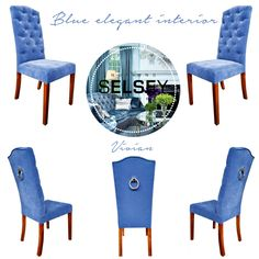 Chair Vivian #blue #chair #design #homedecor #homedesign #selseyliving Sit Back And Relax, Chair Design, Dining Chairs, House Design, Elegant, Interior, Blue, Furniture, Home Decor