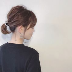 """It can be reasonably possible even if it is short ♡ How to make """"Dadango with Bob"""" - LOCARI (Locate) Short Ponytail, Short Wavy Hair, Medium Hair Cuts, Medium Hair Styles, Long Hair Styles, Short Bob Hairstyles, Vintage Hairstyles, Eva Hair, Hair Arrange"""