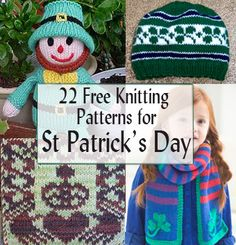 Free St. Patrick's Day Knitting Patterns at www.intheloopknitting.com/free-st-patricks-day-knitting-patterns