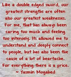 Sony Crystal - Google+ Our Greatest Strengths Can Also Be Our Greatest Weaknesses. This picture describes me exactly as I am and how abusive people have always taken advantage of the fact, that I am such a caring, sharing, understanding and forgiving kind of person. As a psychic face reader, even though l can still see all the darkness in very abusive people, l can also see all the goodness in them. This ability has gotten me into a lot of trouble in my past. This little black duck has…