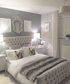Resultado de imagen para gray bedroom decoration