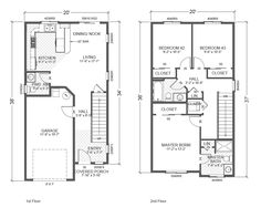 Two story homes plan plan and blue prints on pinterest for Adu house plans
