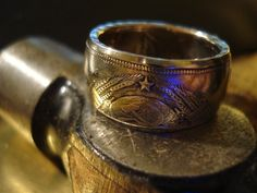 CCCP Communist Russian Coin Ring by grantclinch on Etsy, $72.00