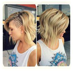 Risultati immagini per blonde sidecut hair